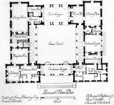 Casa Colonial Mexico Plano Courtyard House Plans Mediterranean House Plans U Shaped House Plans