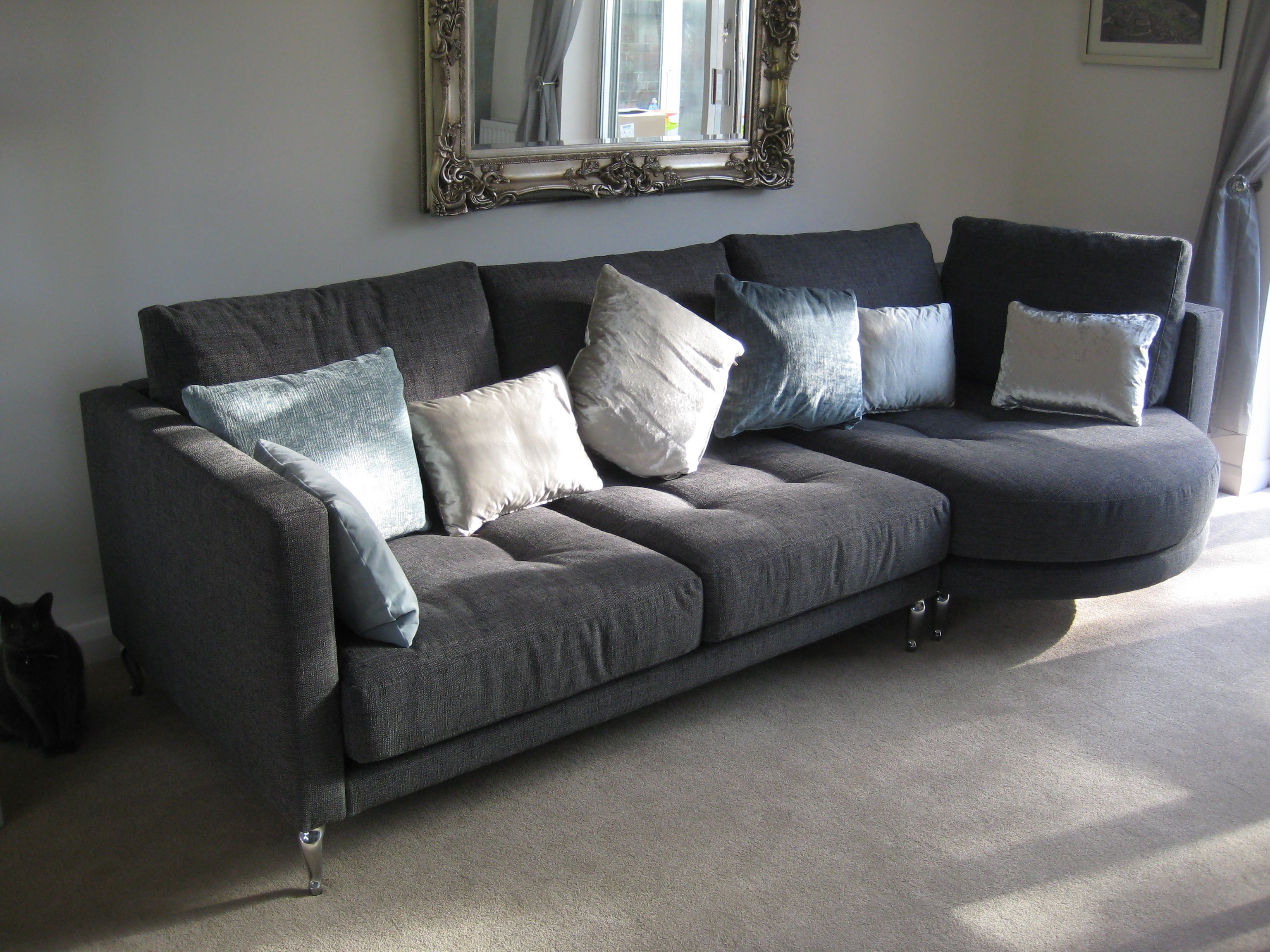 Our unusual rounded chaise sofa arrangement Ole! May be
