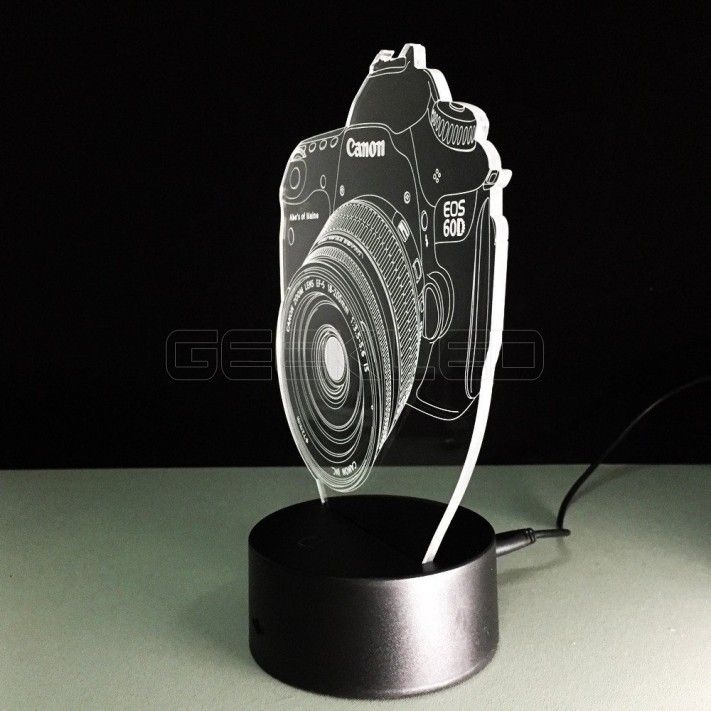 3d Optical Illusion Lamp Night Light Camera Lamp Led Desk Lighting Camera Lamp
