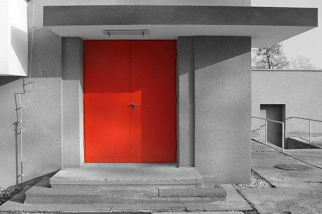 The red Door of the Bauhaus by mhobl via Flickr & The red Door of the Bauhaus | Bauhaus Doors and Industrial