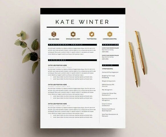 10 Free Clean Simple Resume Templates