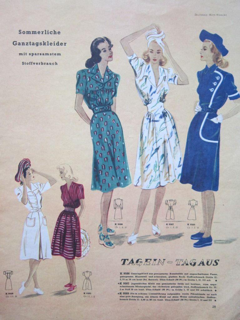 Sukienki Z Czasow Ii Wojny Szukaj W Google Summer Dresses Fashion Dresses