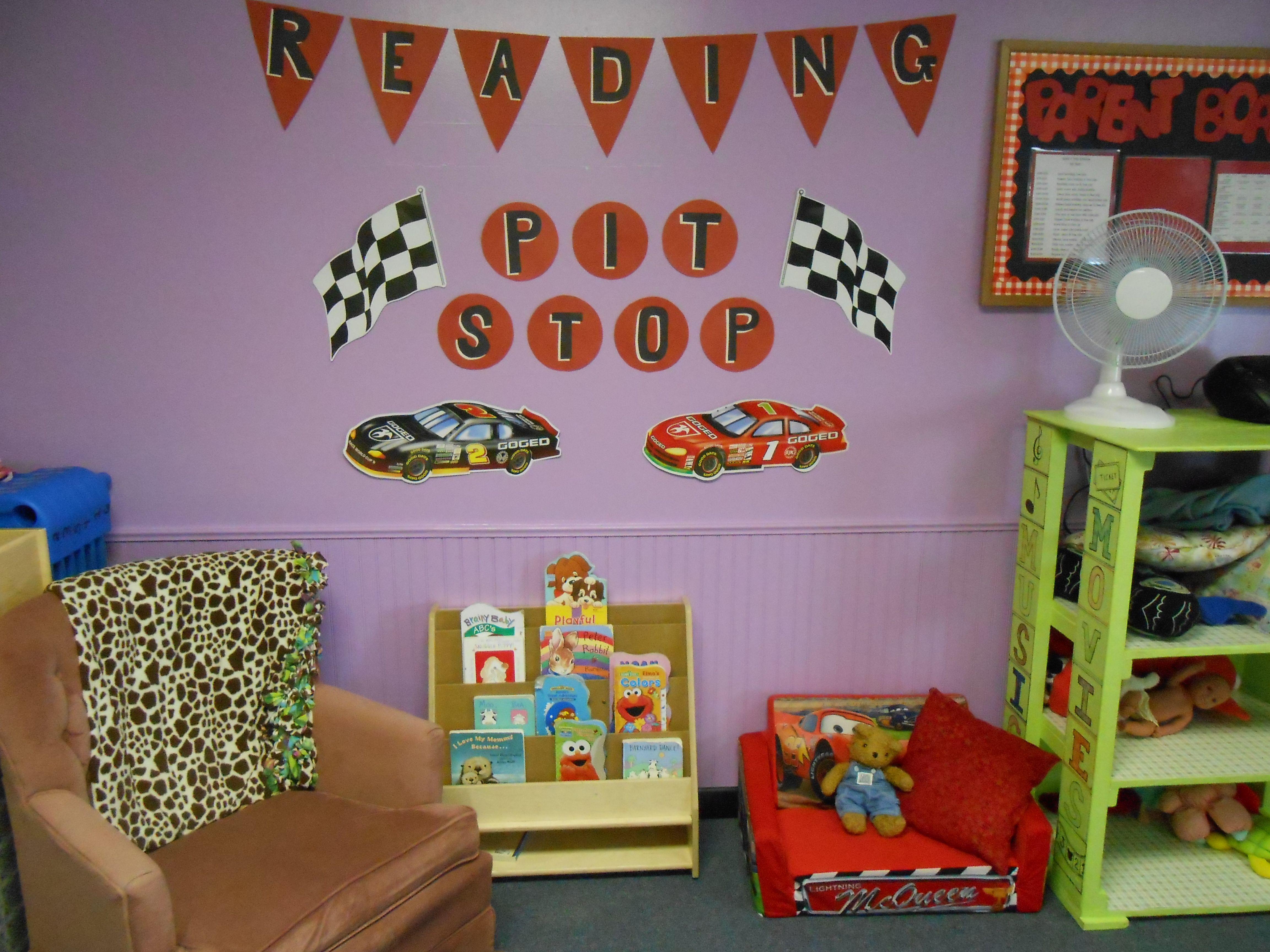 cozy center or book center for Toddler, preschool daycare