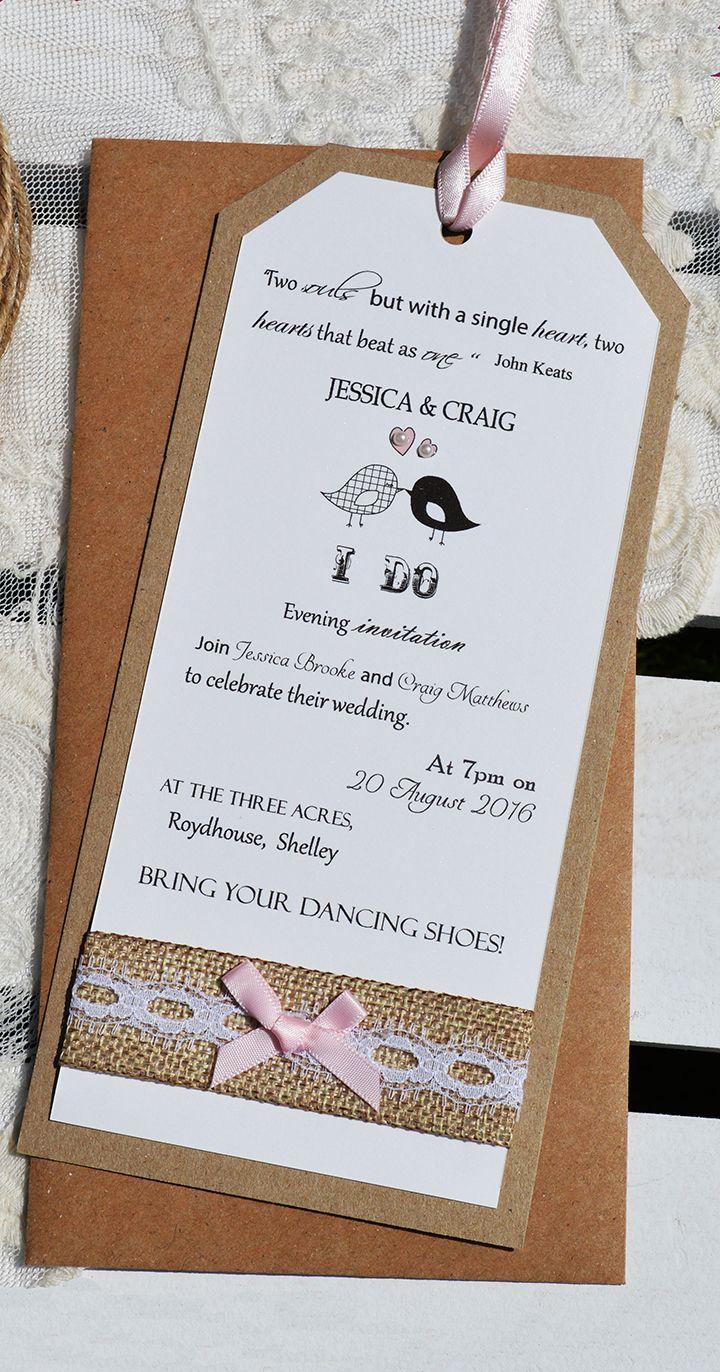Vintage Lovebirds Evening invitation. This cute vintage/shabby-chic ...
