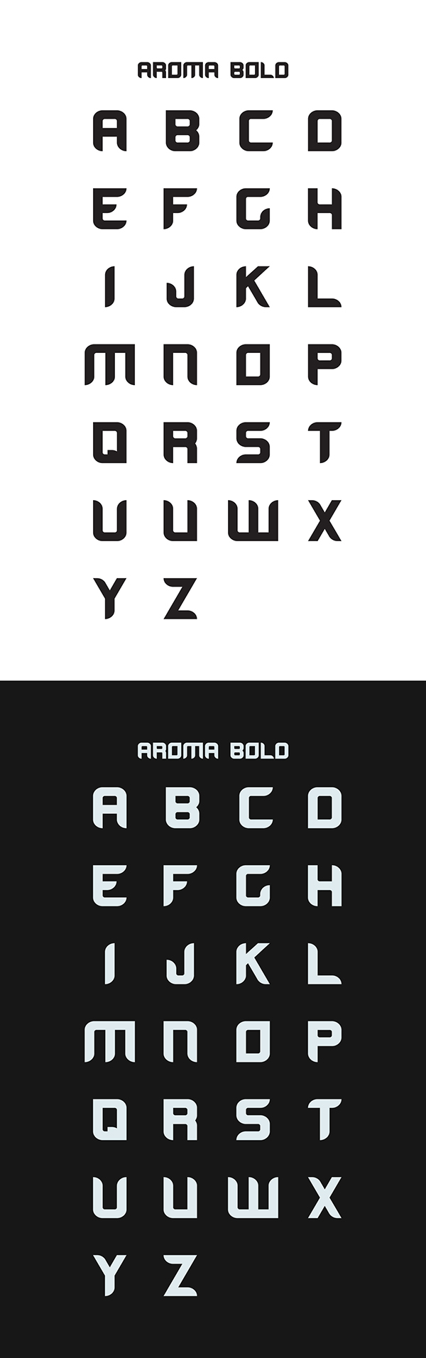 Font I created in two weights, light and bold.