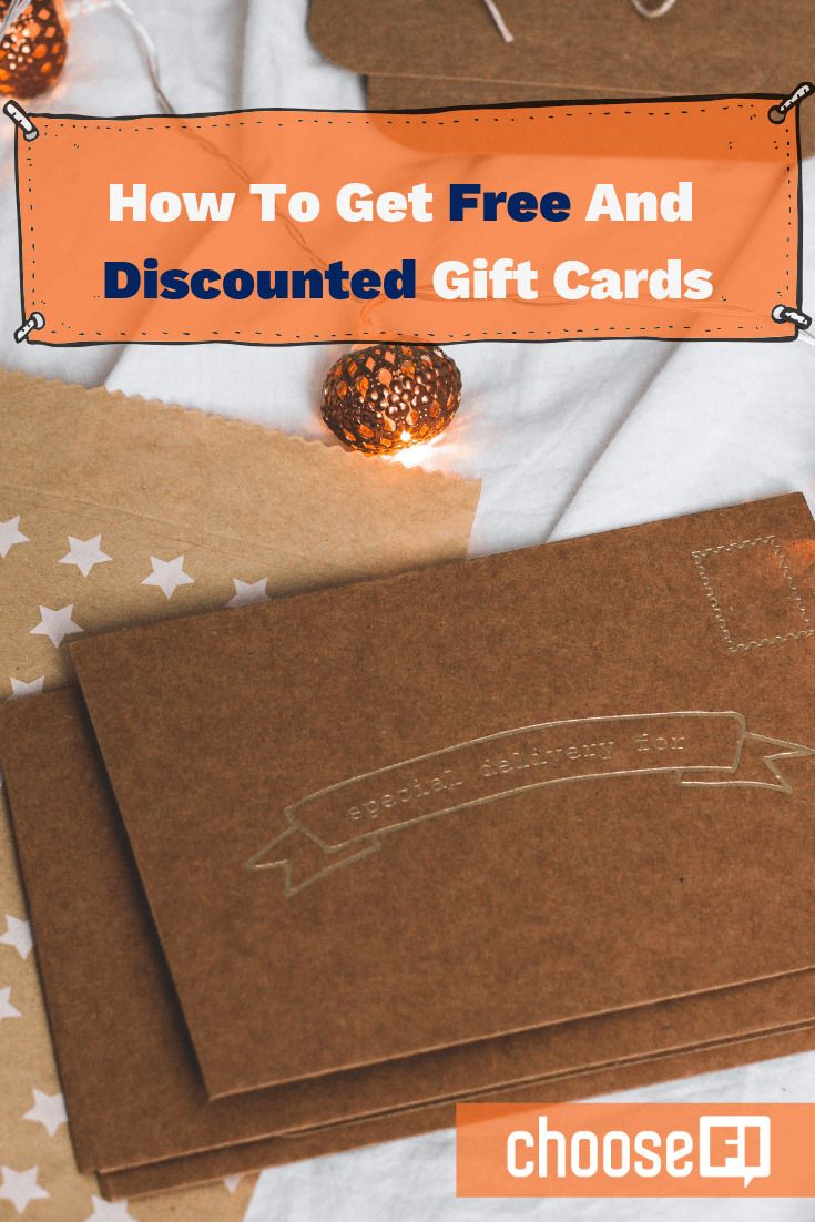 How to get free and discounted gift cards earn gift