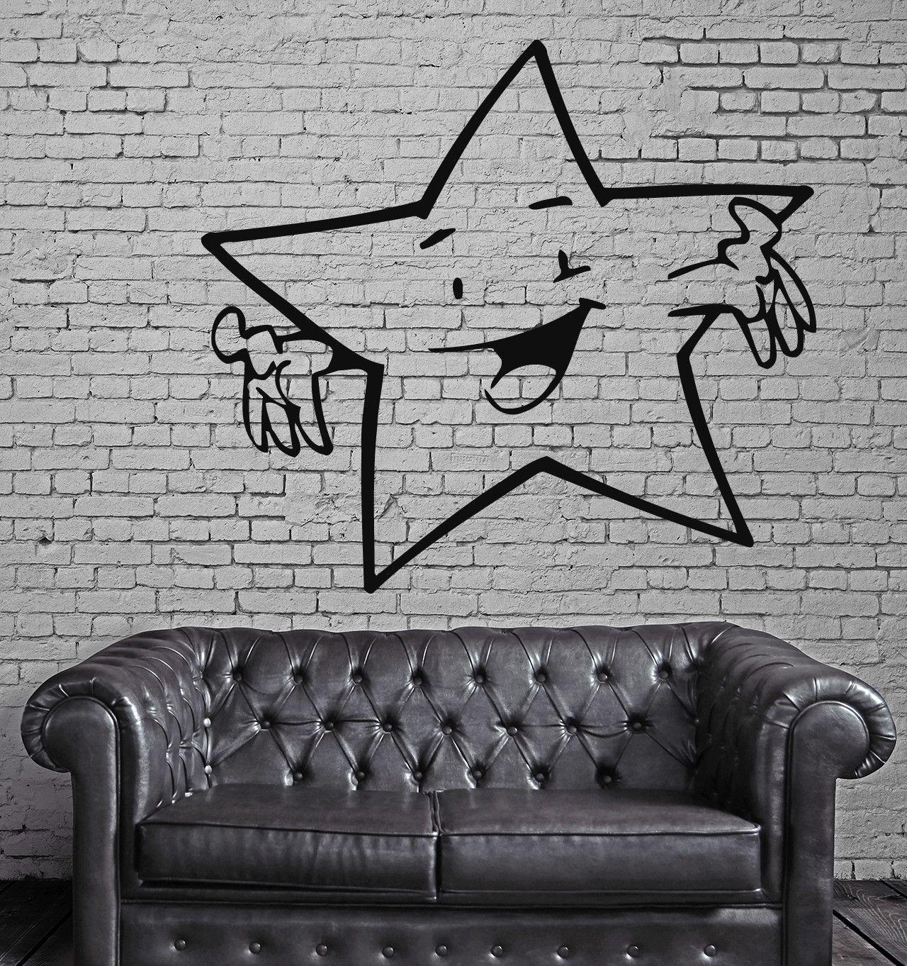 Funny star baby kids children mural wall art decor vinyl sticker