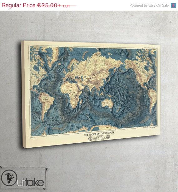Spring SALE Vintage Wall World map The Floor of by ...