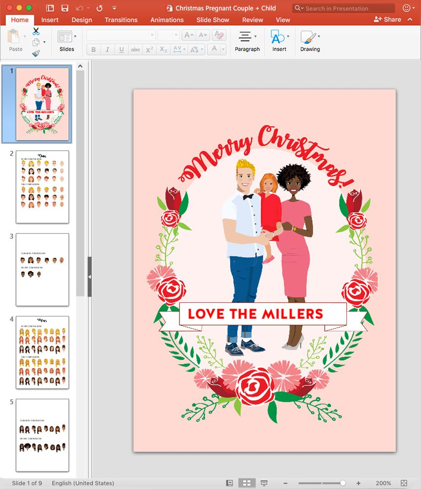 Design your own christmas cards in powerpoint christmas crafts design your own christmas cards in powerpoint christmas crafts family pictures christmas cards diy holiday solutioingenieria Choice Image
