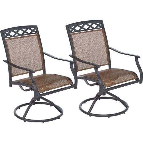 Outdoor Patio 2 Piece Sling Swivel Rocker Chair: Set Of 2 Mosaic Http: