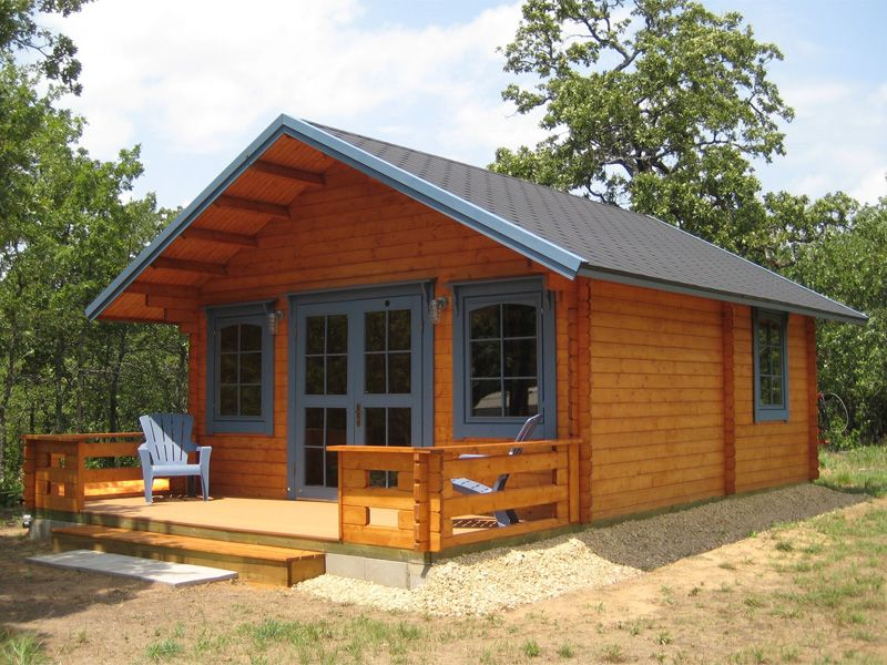 Getaway cabin kit loft cabin kits lofts and guest houses for Fishing cabin kits