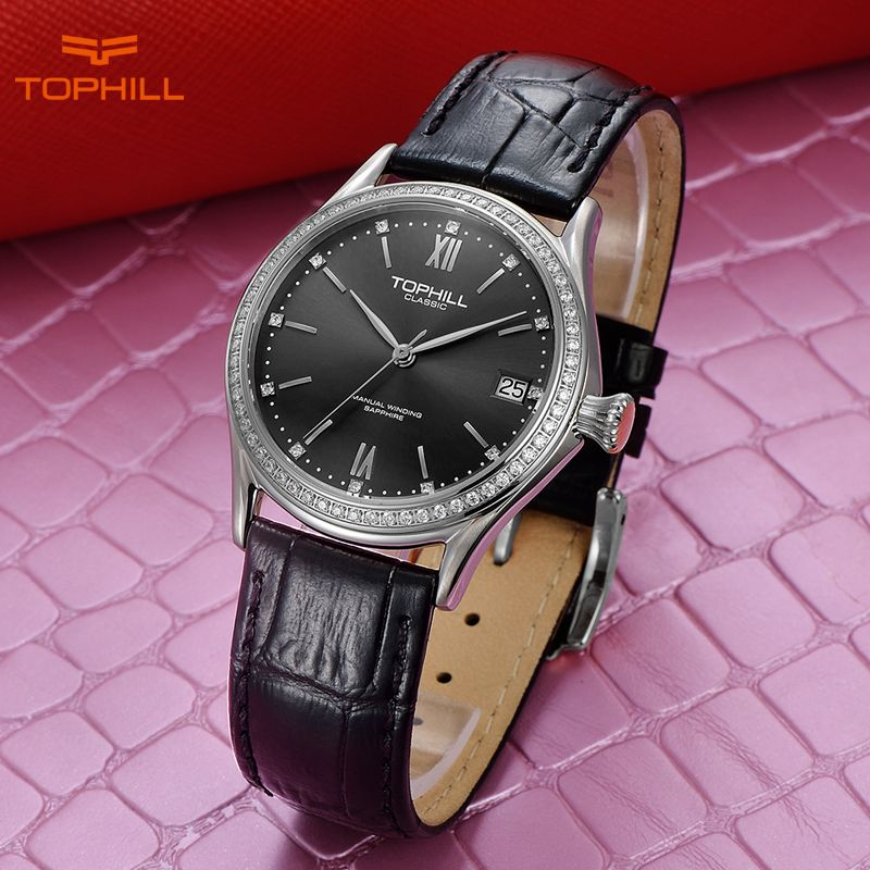 Tophill Swiss Brand Women Watch Mechanical Hand Wind Women's Mechanical Wristwatches Ladies Fashion Wrist Watches orologio uomo
