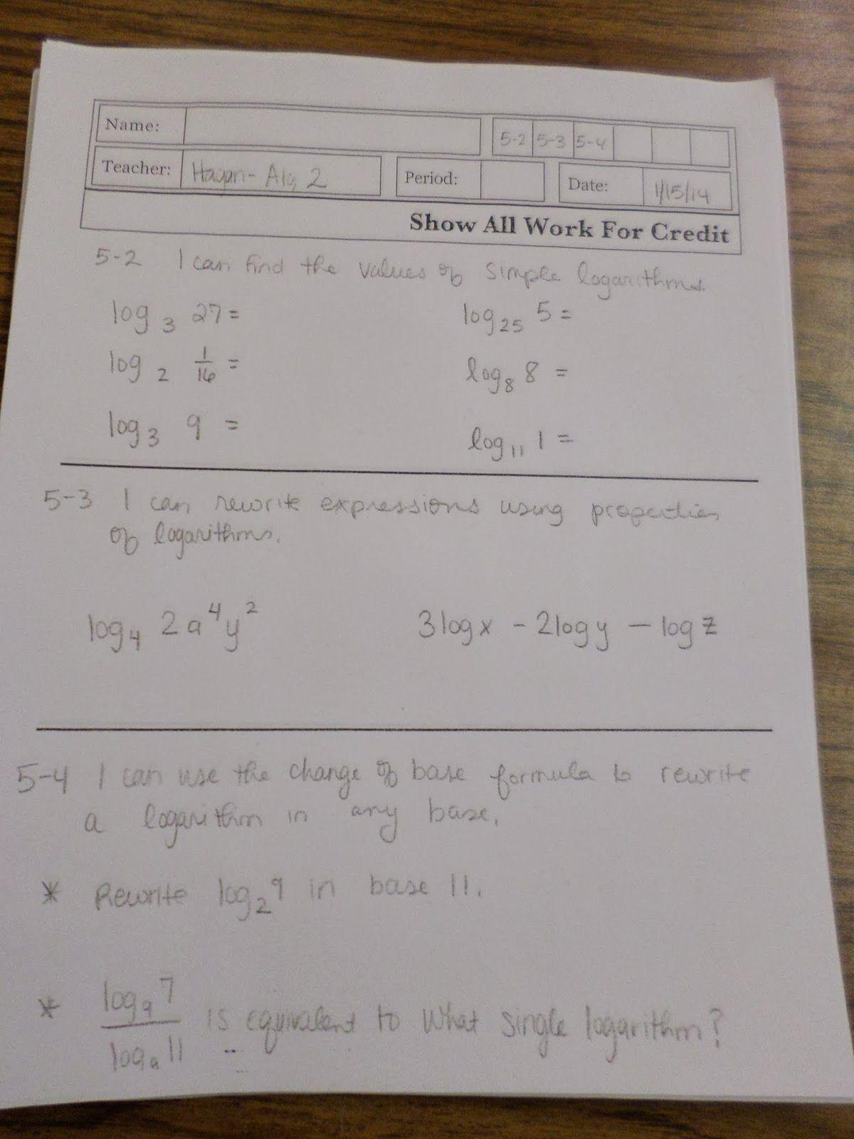 SBG quiz template from Dan Meyer | Assessment & Classroom Discourse ...