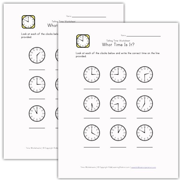What Time Is It Worksheets | Worksheets for Children | Pinterest ...