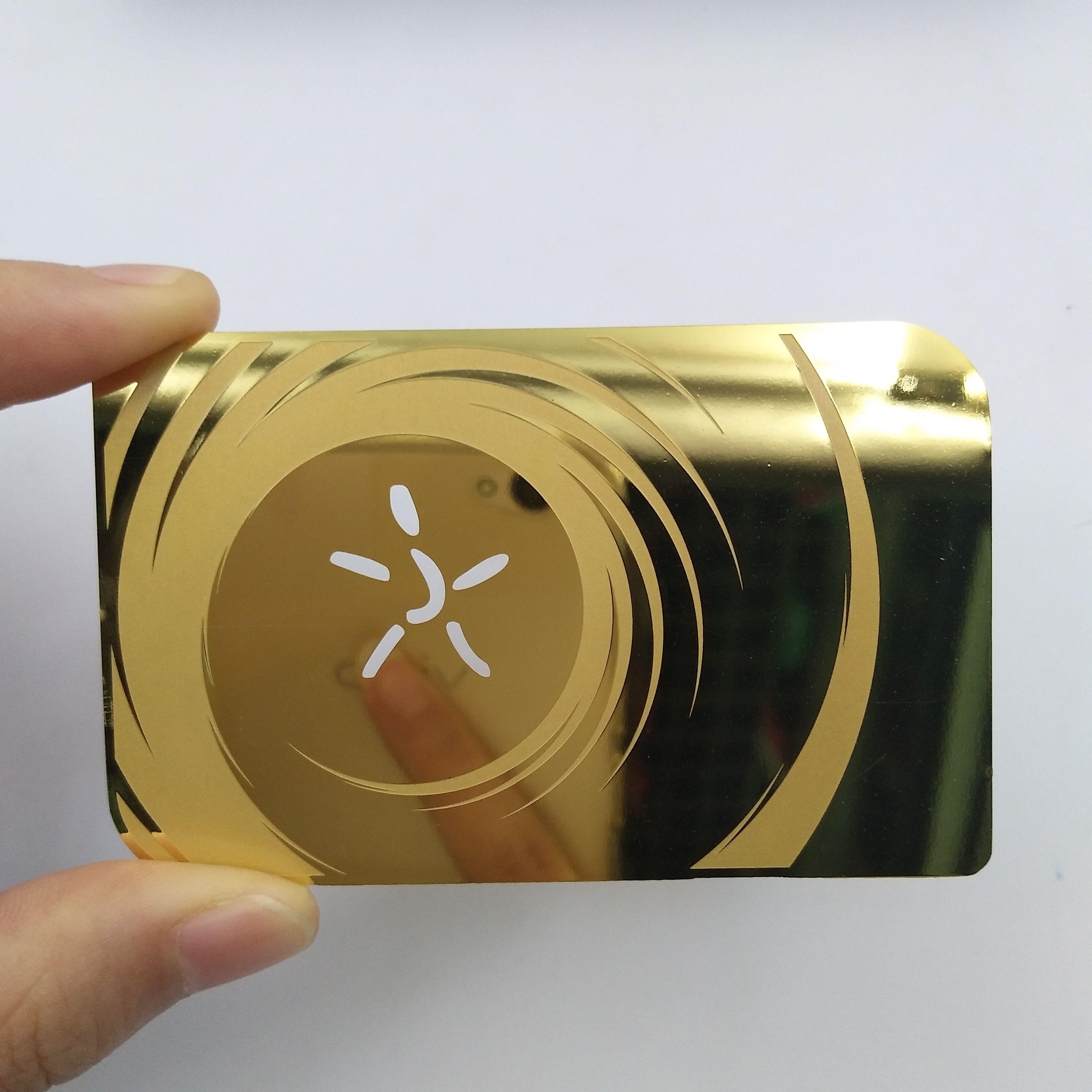Metal Mirror Business Card Metalcard Stainlesssteelcard