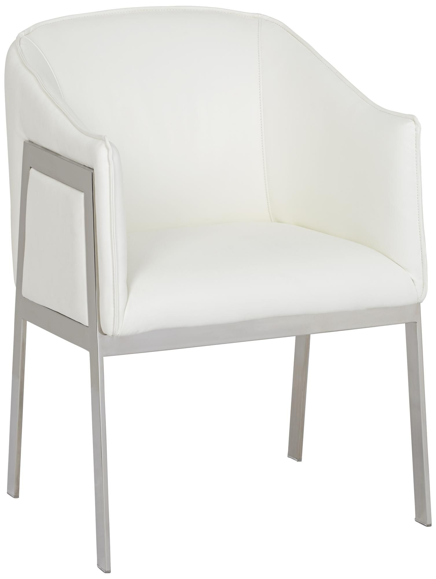 Outstanding Rialto Silver And White Armchair Quantum Plus Nature Alphanode Cool Chair Designs And Ideas Alphanodeonline