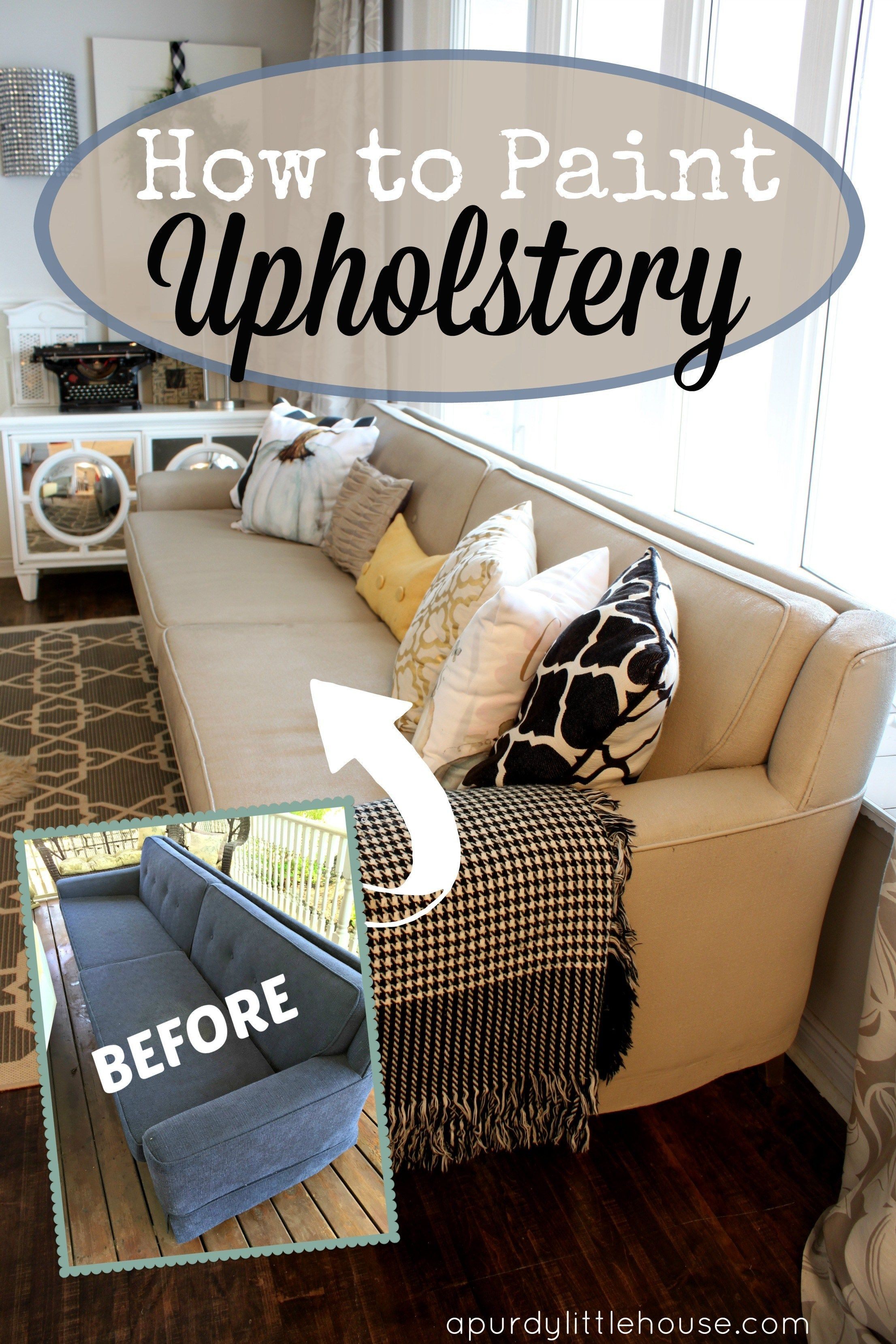 How to Paint Upholstery and change the colour of any fabric furniture piece