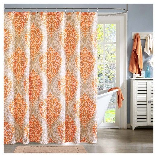 Chelsea Microfiber Printed Shower Curtain | Chelsea and Damasks