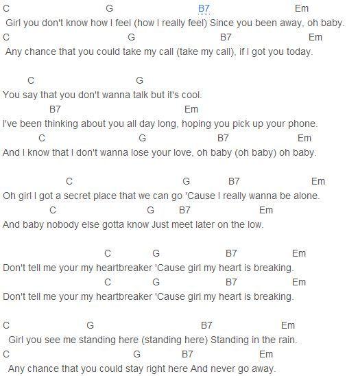 Justin Bieber - Heartbreaker Chords Capo 2 | Justin Bieber by ...