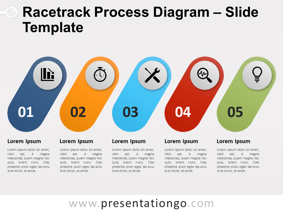 Racetrack Process For Powerpoint And Google Slides Powerpoint Slide Designs Powerpoint Business Powerpoint Templates