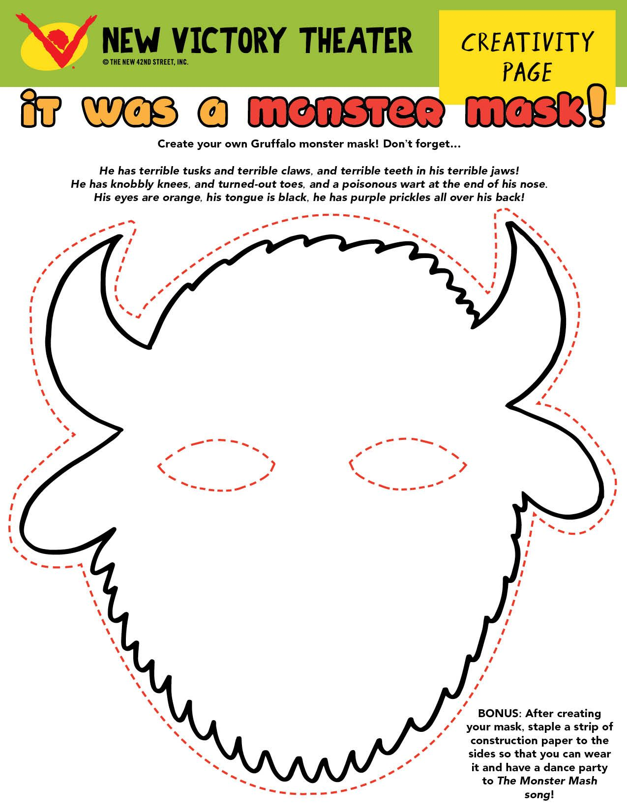 Make Your Own Monster Mask And Become The Fearsome
