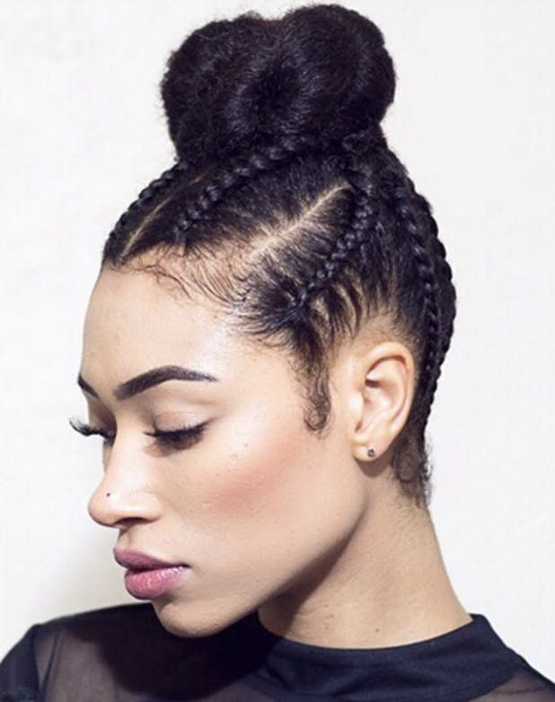 Top Knot Cornrows Get This And More Braided Hairstyles Here Hair Styles Cool Braid Hairstyles Spring Hairstyles