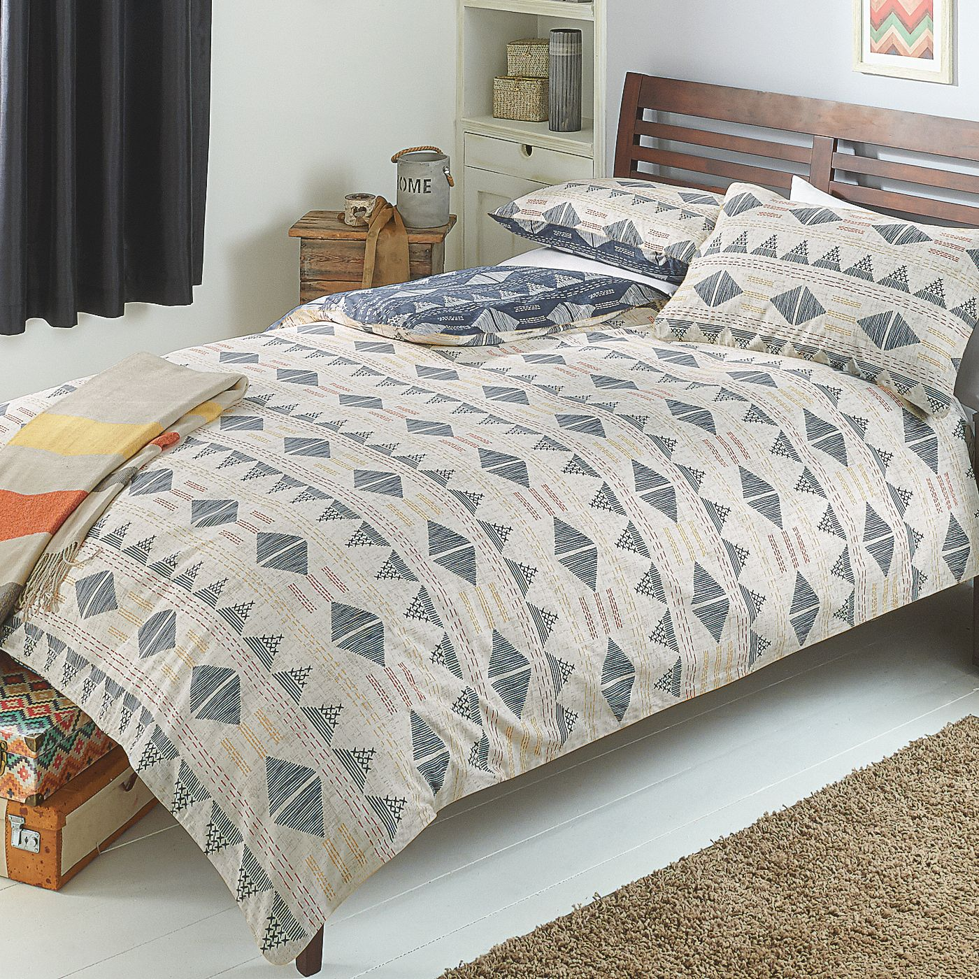 George Home Tundra Geo Duvet Set | Duvet Covers | ASDA direct