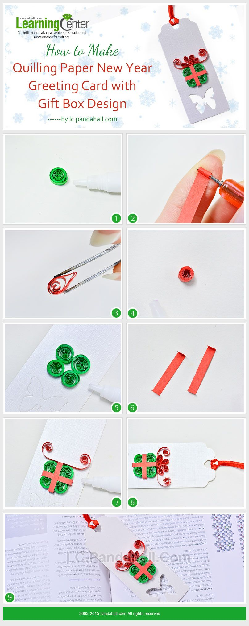 How To Make Quilling Paper New Year Greeting Card With Gift Box
