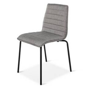 Trap Stacking Chair Gray With Black Legs