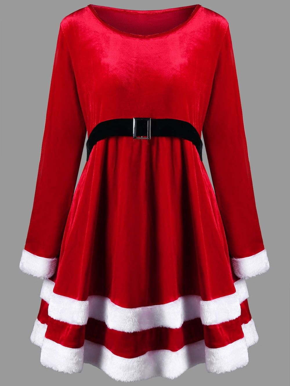 Christmas plus size velvet long sleeve dress holidays pinterest
