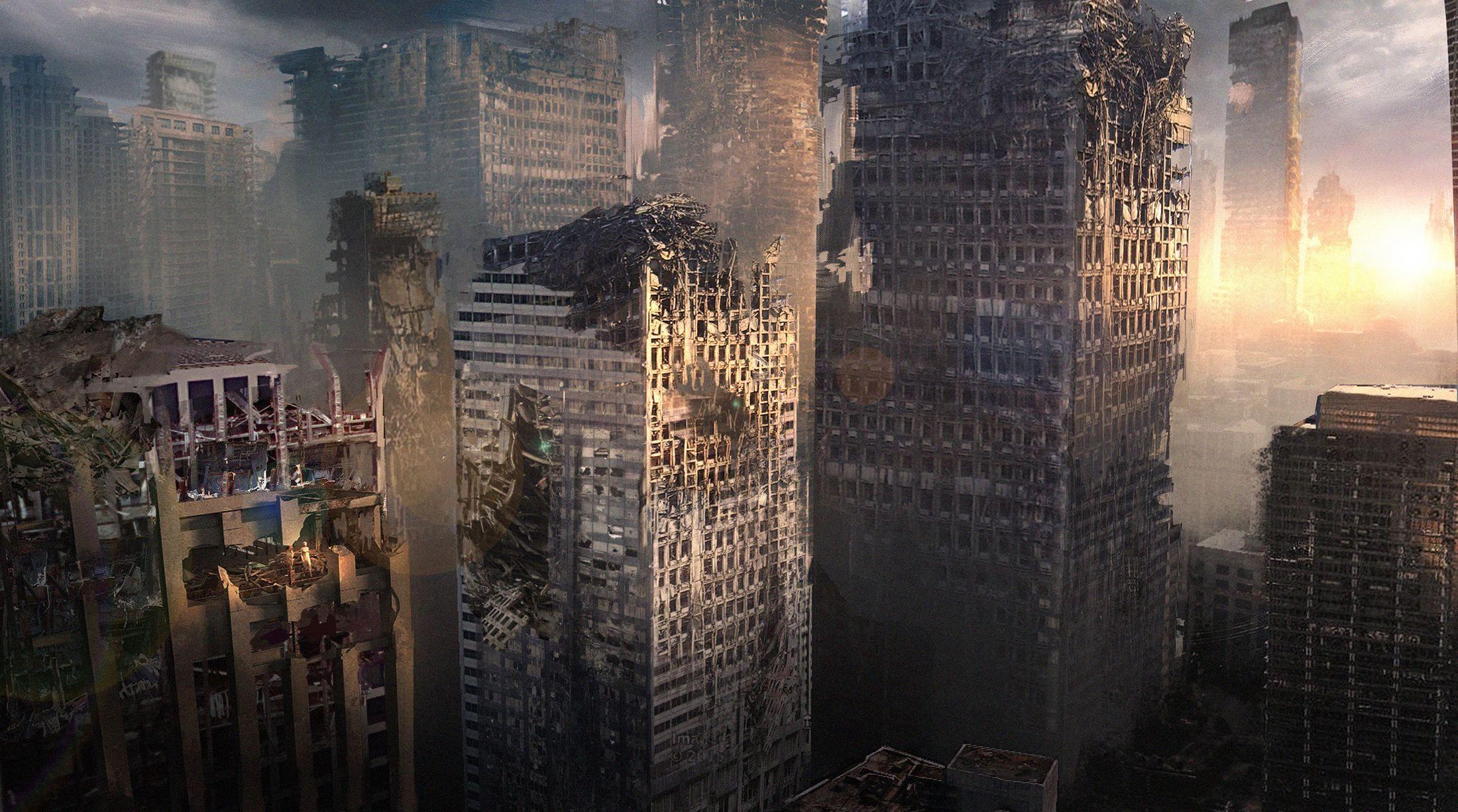 The Divergent Series Allegiant Concept Art City Ruins Shot Chicago Divergent Series Divergent Broken City