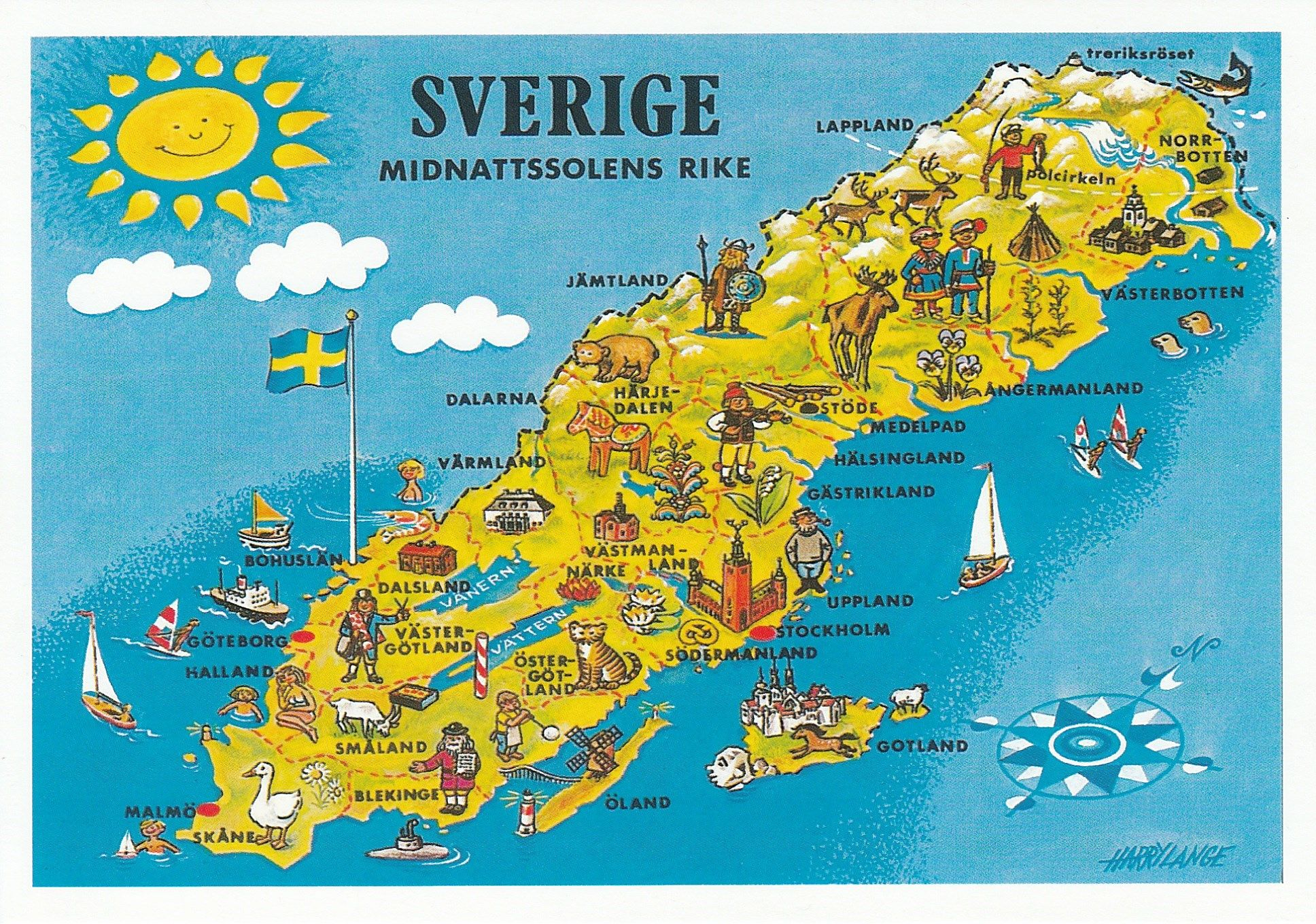 Sweden The Country Of The Midnight Sun Design Copyright Lange