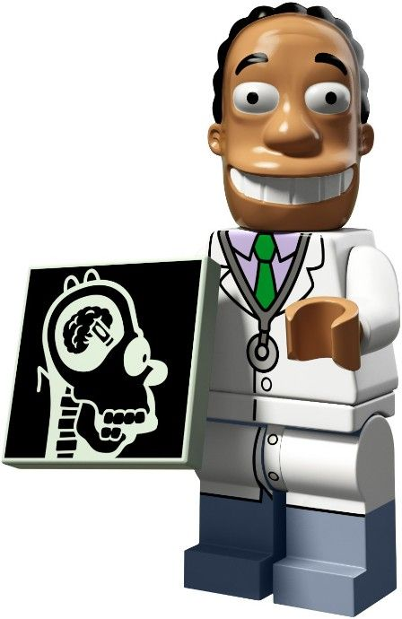 genuine lego minifigures the dr hibbert from series 2 simpsons