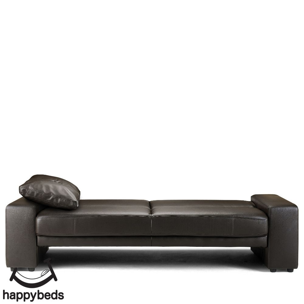 Supra Brown Faux Leather Sofa Bed In