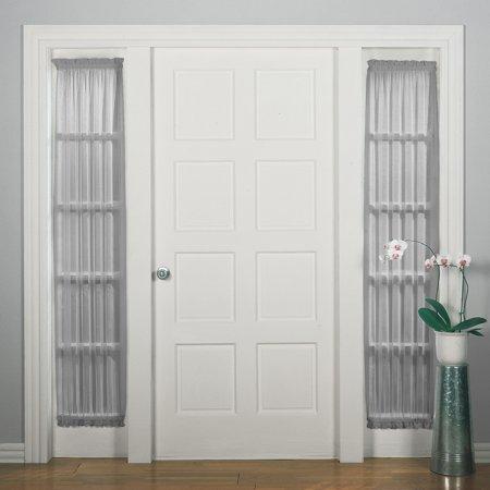 No 918 Emily Sheer Voile Door Sidelight Curtain Panel Walmart
