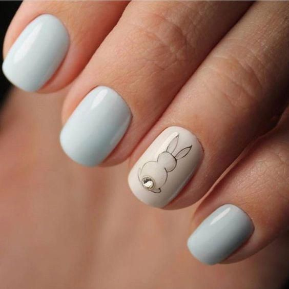 80 Ideas To Create The Best Halloween Nail Decoration In 2020 Bunny Nails Easter Nail Art Designs Easter Nail Designs
