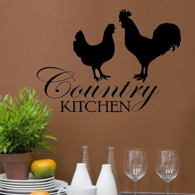 Decal the Walls Country Kitchen Graphic Wall Decal is part of Country Home Accessories Wall Colors -