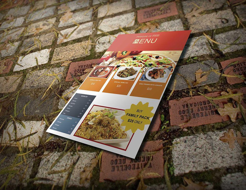 takeout menu template