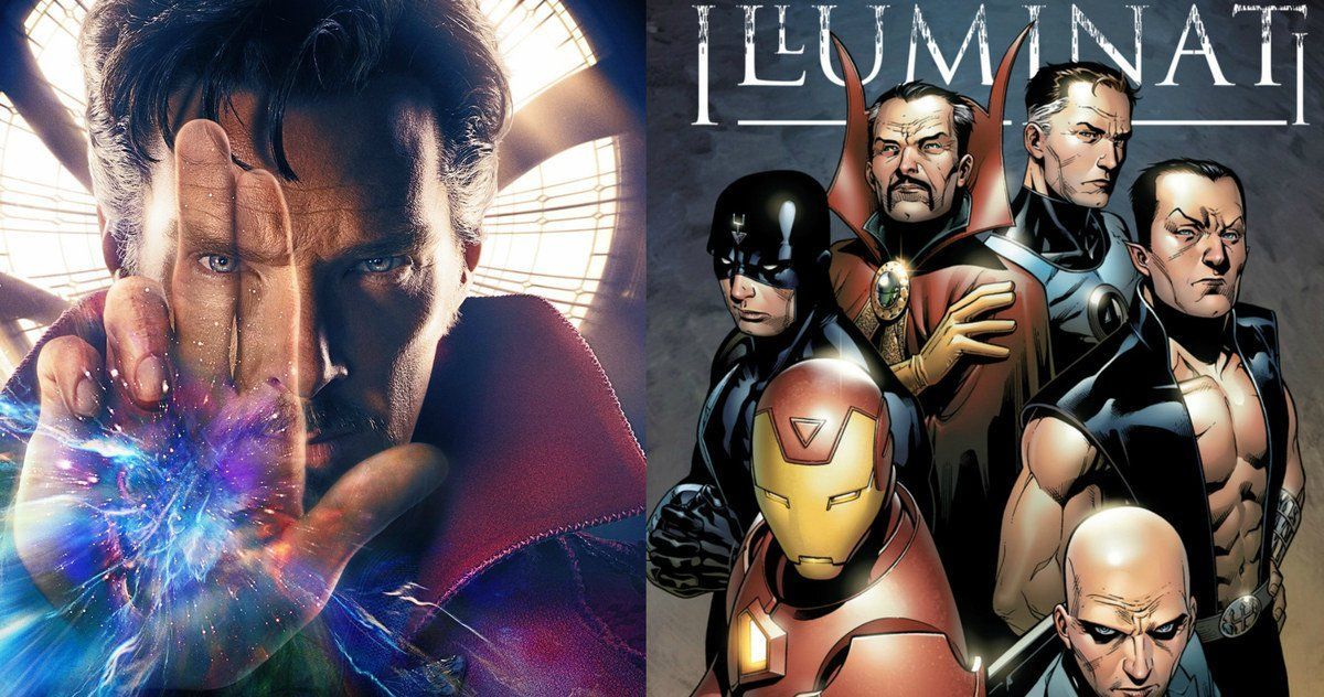 Is Doctor Strange Bringing the Illuminati Into the MCU? -- Benedict Cumberbatch hints that the Marvel may be ready to introduce the Illuminati into its shared movie universe. -- http://movieweb.com/doctor-strange-movie-illuminati-introduction/