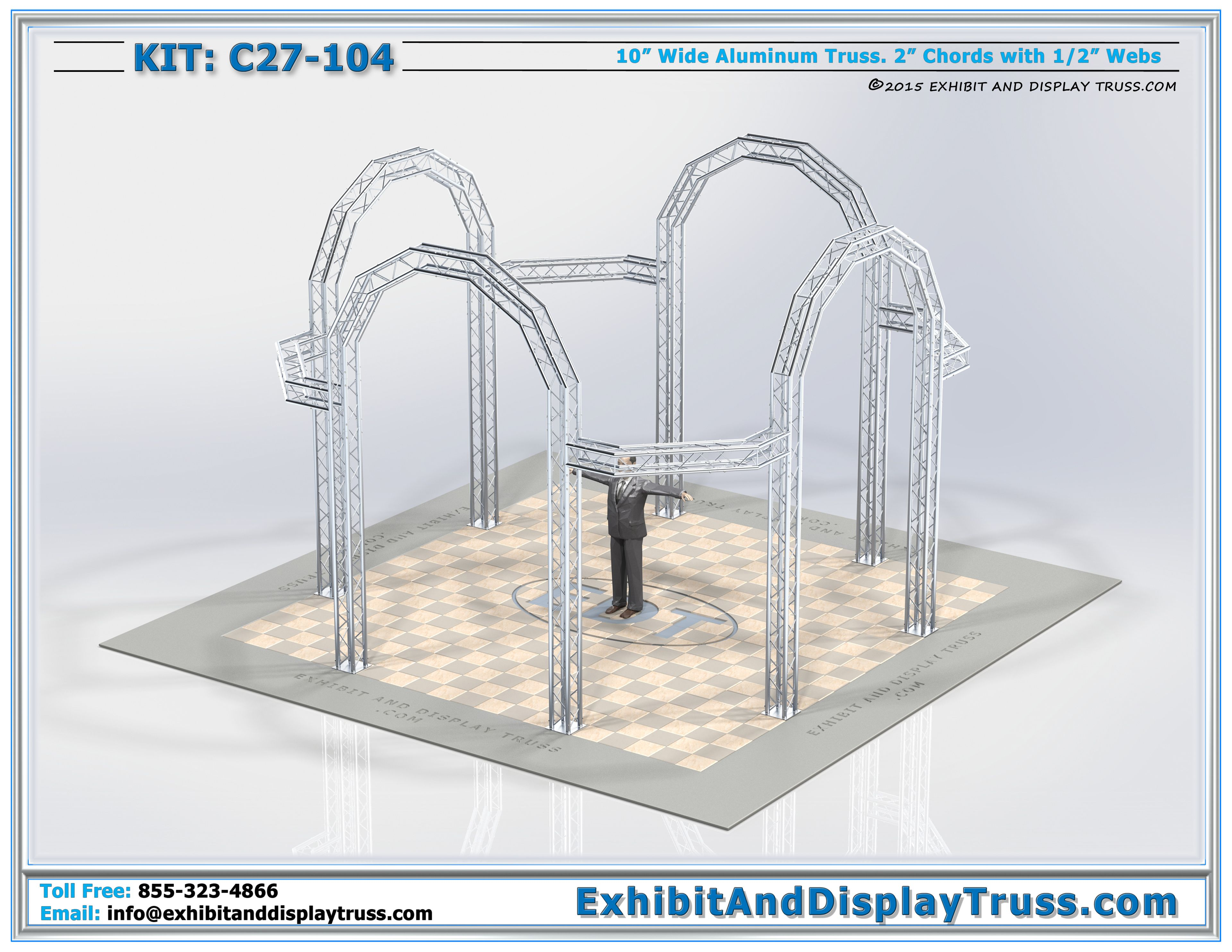 exhibit display kit c27 104 modern truss display exhibit with truss