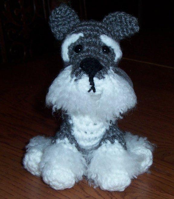 Crochet Schnauzer puppy, pattern by Justyna Kacprzak ...