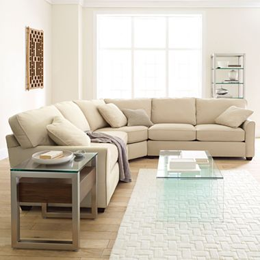 Possibilities Sharkfin Arm 3 Pc Loveseat Sectional Jcpenney