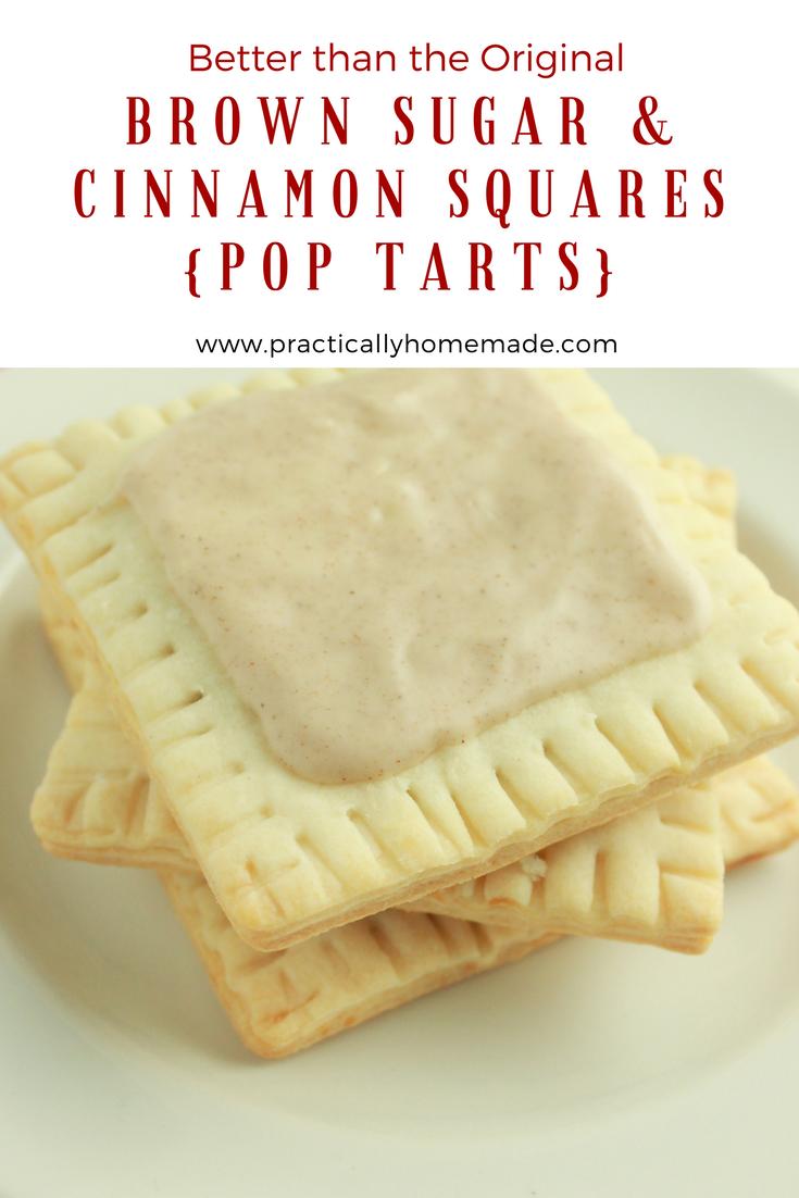 Brown Sugar & Cinnamon Squares {Pop Tarts} - Practically Homemade
