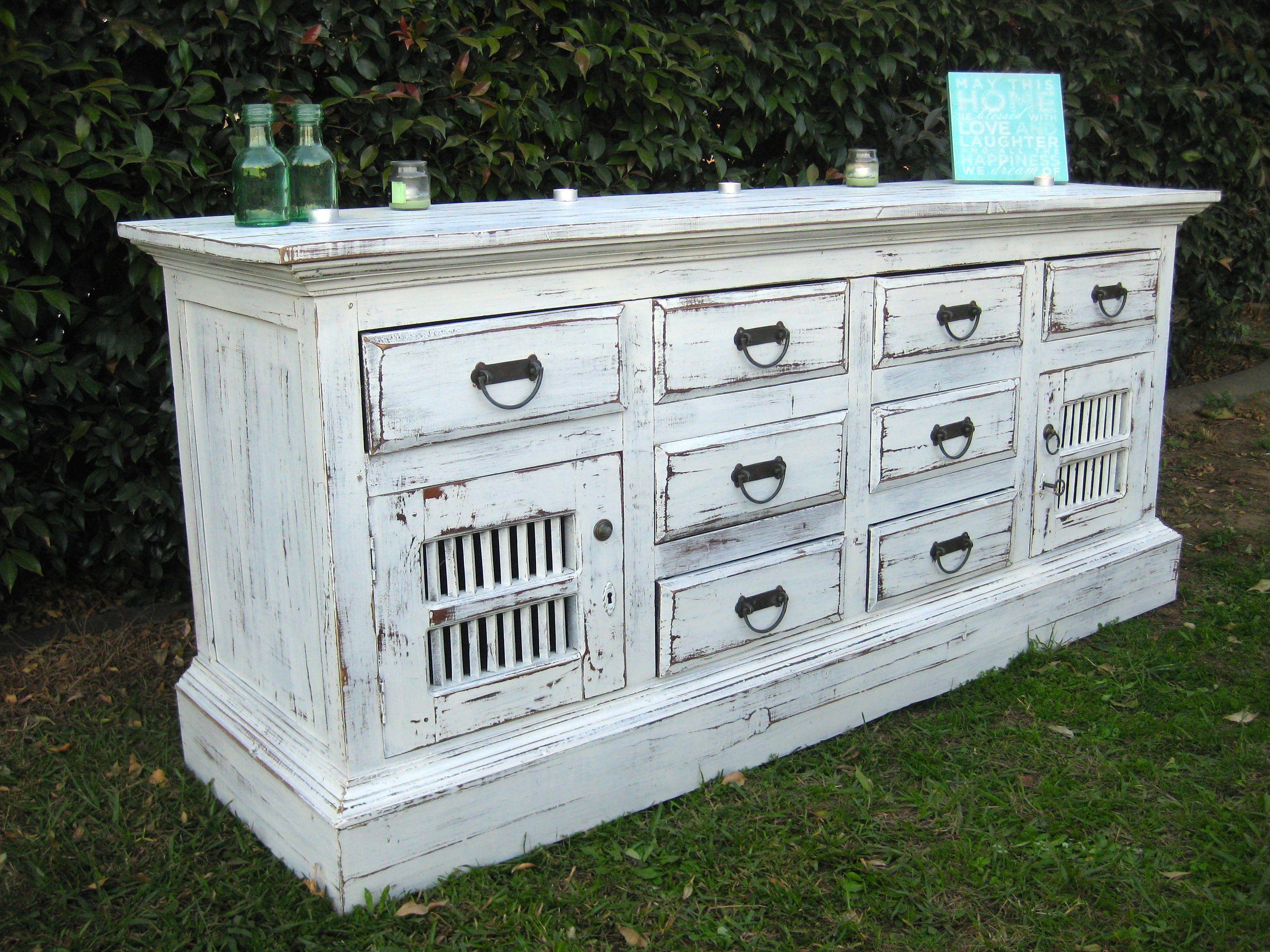 Shabby chic white timber buffet unit | Australian made | Kitchen + ...