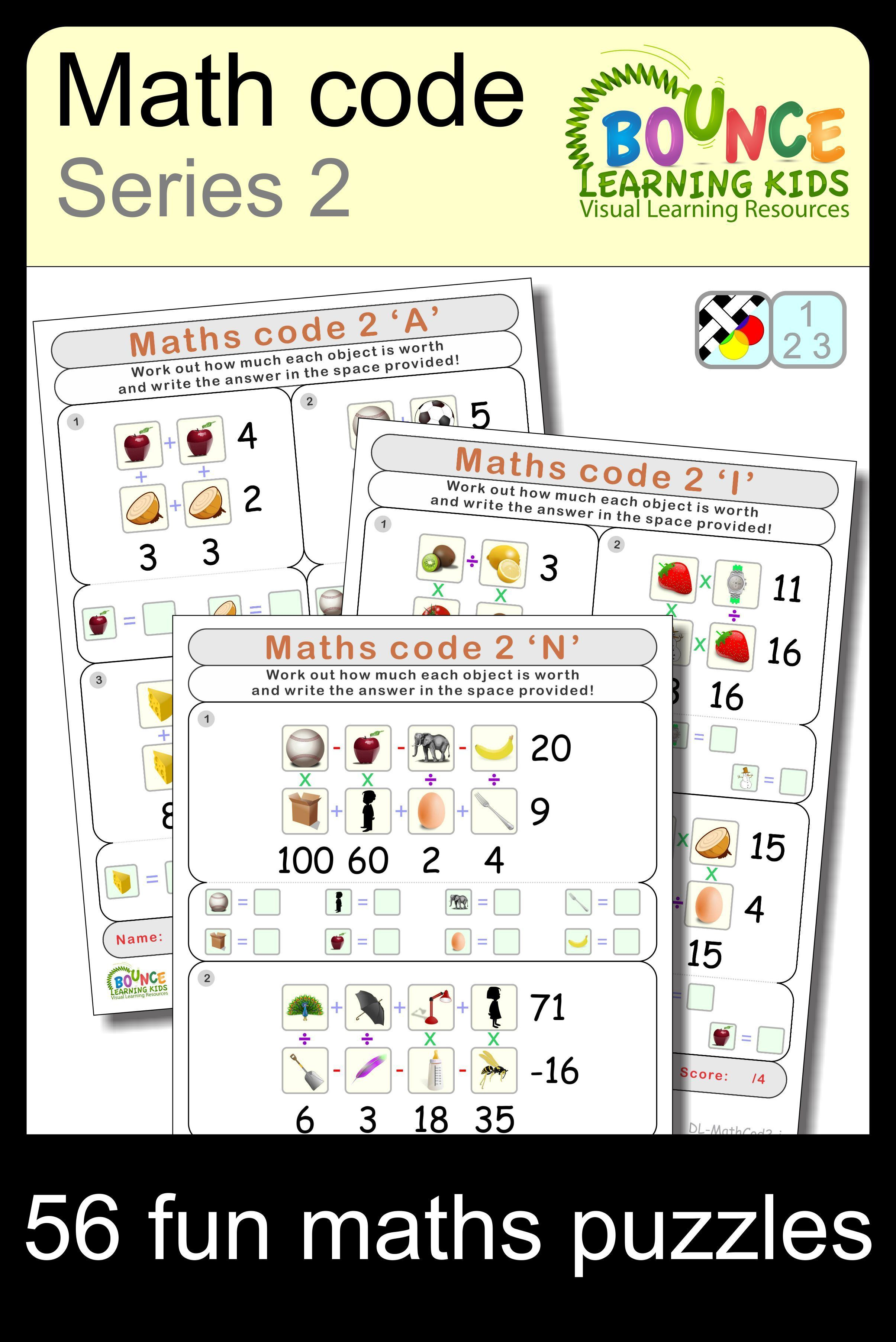 Math Code 2 15 Distance Learning Numeracy Sheets