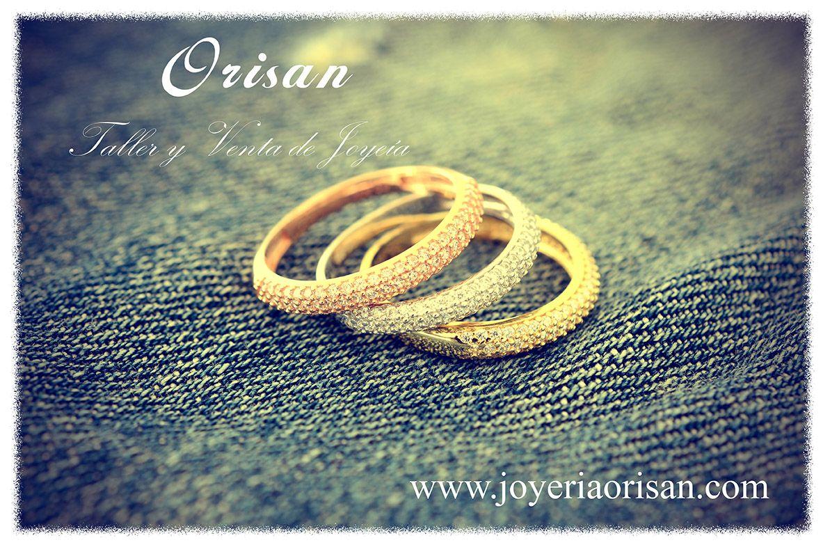 Anillos circonitas disponibles en tres colores www.joyeriaorisan.com