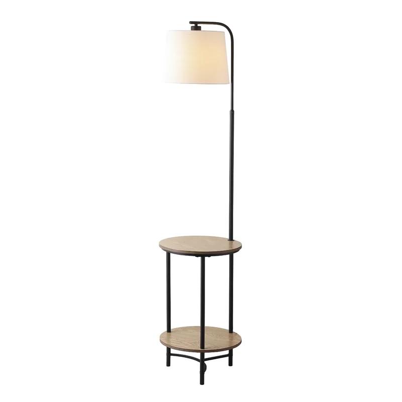 17 Stories Vidaurri 63 Tray Table Floor Lamp Wayfair Floor Lamp Black Floor Lamp Floor Lamp With Shelves