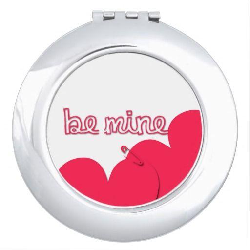 #Be_Mine #Valentine's_Day Modern #compact_mirror