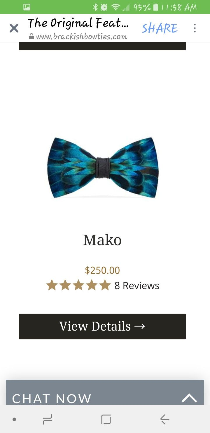 Brackish Bowtie Mako For Our 21st Wedding Anniversary To Gift
