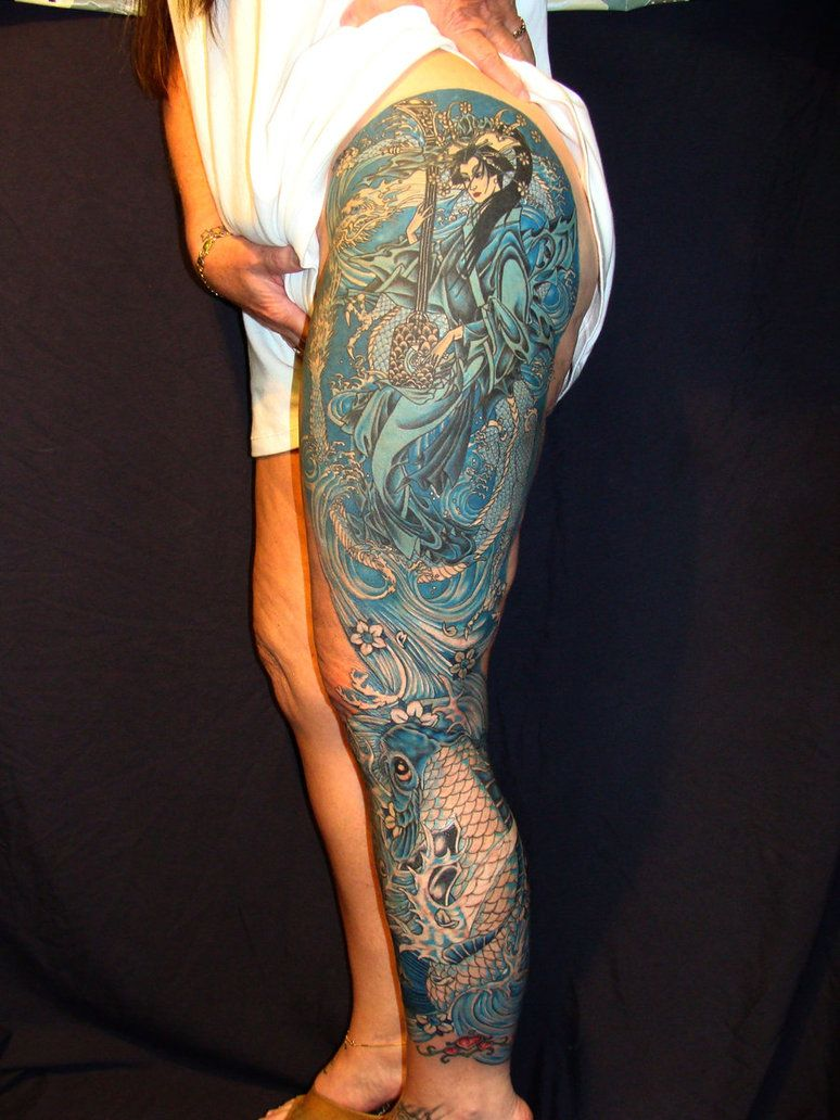 Lower leg guys traditional sleeve tattoos - Black Women With Tattoo Sleeves Leg Sleeve Tattoos Designs And Ideas